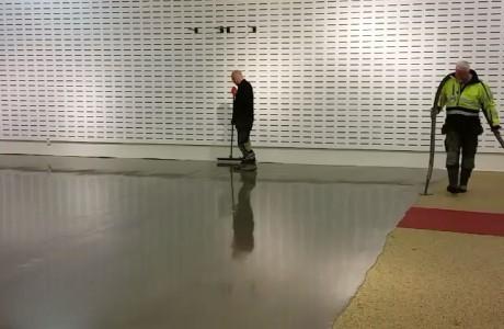 ביצוע  רצפה בחנות